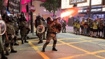 Sunday protests spiral into chaos as police and demonstrators clash in the heart of Hong Kong
