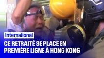 À 85 ans, ce retraité se dresse entre la police et les manifestants pro-démocratie à Hong Kong