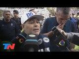 """Maradona: """"en el fútbol argentino, después de la Selección me hicieron la cruz"""""""