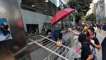 ویدئو؛ نارآمی بار دیگر بخشهای زیادی از هنگ کنگ را دربر گرفت