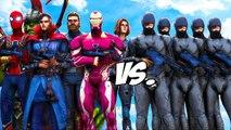 Avengers VS RoboCop Army - EPIC BATTLE
