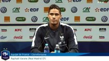 Varane sur le match Algérie - France