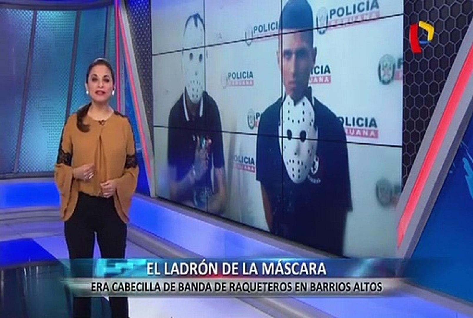 La máscara de Jason: cae cabecilla de banda de raqueteros de Barrios Altos
