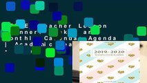 [FREE] Teacher Lesson Planner: Weekly and Monthly Calendar Agenda | Academic Year August - July |