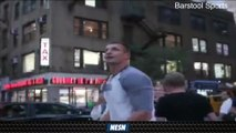 Alex Rodriguez, Rob Gronkowski Play Catch In New York City Traffic
