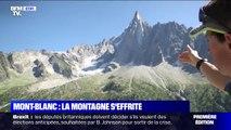 L'inquiétante fonte de la mer de glace dans le massif du Mont-Blanc
