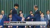 Moon calls for reform in prosecution and in education