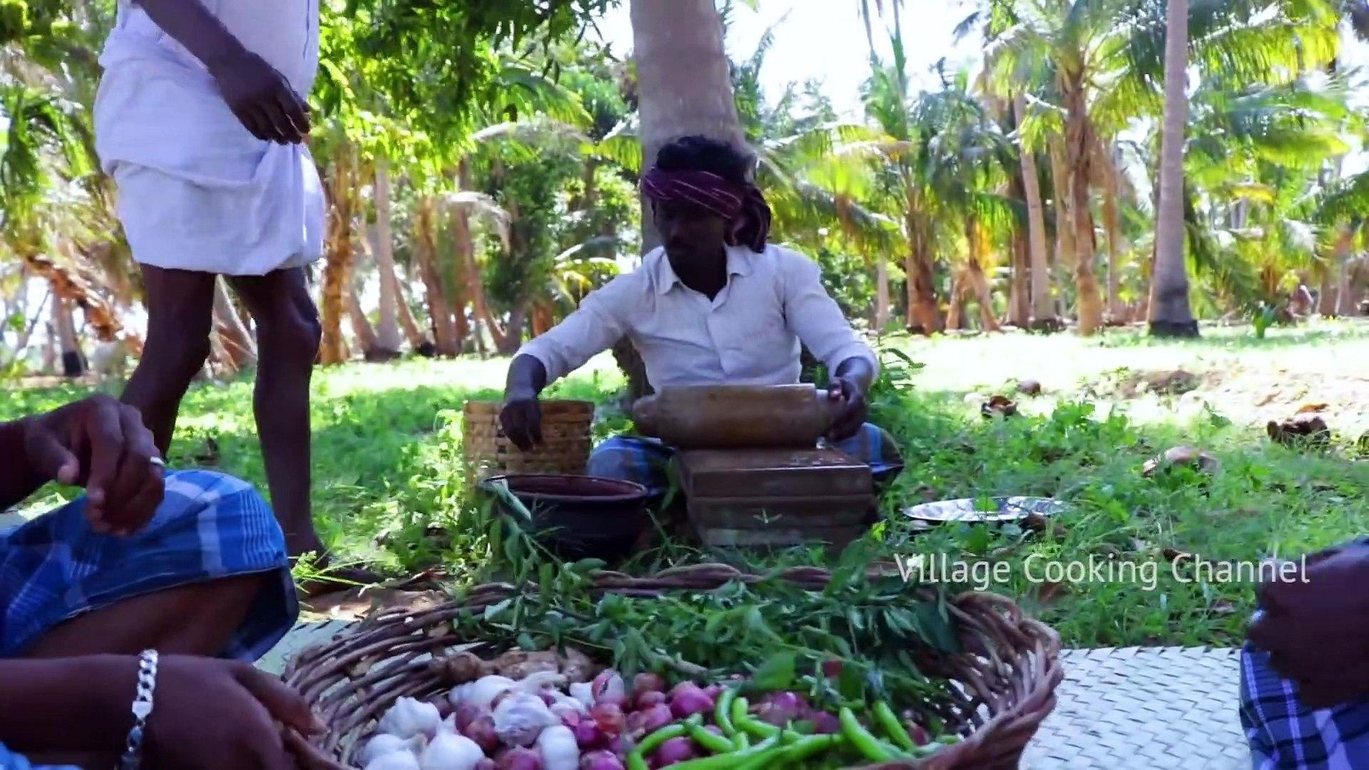 MUTTON CHUKKA - Village Style Mutton Chukka Varuval - Mutton Curry Recipes - Village Cooking