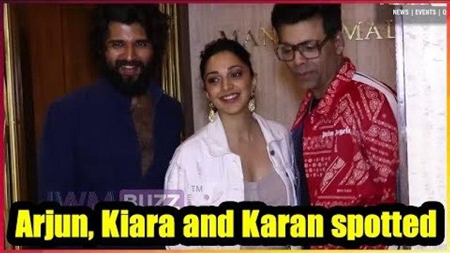 Kiara, Vijay and Karan at Manish Malhotra's residence