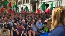 """""""No a Governo M5S-Pd"""", Meloni: """"Ladri si sovranità, truffatori di consensi"""" (09.09.19)"""