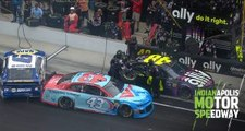 Mayhem on pit road as Johnson narrowly avoids trouble
