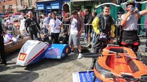 Over 60 teams compete in UK town's first ever soapbox race