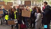 Les salariés d'Aigle Azur mobilisés devant le ministère des Transports