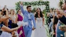 بالفيديو، حفل زفاف الممثلة التركية دنيز بايسال والممثل باريش يورتشو