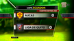 Aucas y Liga de Quito empataron en cuartos de final de la Copa Ecuador