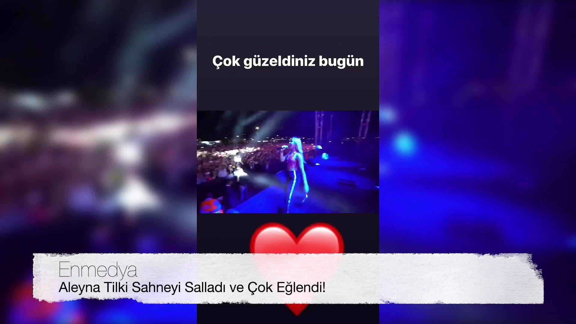 Aleyna Tilki Sahneyi Salladı ve Çok Eğlendi! | Aleyna Tilki'nin İnstagram Hikayesi #Enmedya