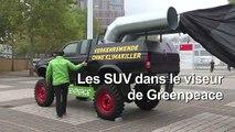 Allemagne: Greenpeace épingle les SUV à l'ouverture du salon automobile de Francfort