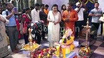 Bhojpuri Actress Sambhavana Seth to Take Blessing  Visit Andheri Cha Raja