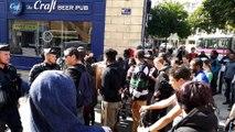 Les migrants expulsés ont manifesté rue de la Préfecture