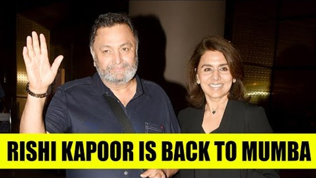 After cancer treatment, Rishi Kapoor is back to India from USA