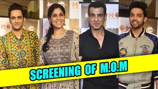 Sakshi Tanwar, Mona Singh, Vikas Gupta , Parth and Erica at the screening of Mission Over Mars