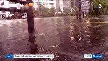 Japon : Tokyo balayée par un puissant typhon