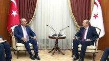 """- Bakan Çavuşoğlu, KKTC Başbakanı Tatar ile görüştü- Bakan Çavuşoğlu: """"Türkiye Kıbrıs Türk halkına desteğini arttırarak sürdürecektir"""""""