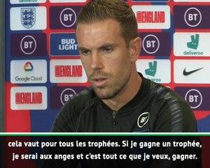 "Angleterre - Henderson : ""Nous voulons gagner des trophées"""