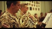 Letonia: ensayos de la Unidad de Música de la FLO y la Zemessardzes Orķestris