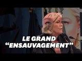 """Marine Le Pen agite encore la peur de """"l'ensauvagement""""... en vue des municipales?"""