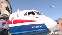-  Bakan Pakdemirli, yangın söndürme uçağını kullanarak test etti    - Türkiye'nin Rusya'dan almayı planladığı BE 200 çok amaçlı amfibi uçağını üretildiği fabrikada inceleyen Tarım ve Orman Bakanı Bekir Pakdemirli, yangın söndürme uçağını