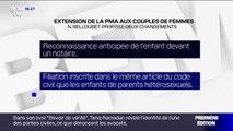 PMA pour toutes: quels sont les deux changements proposés par Nicole Belloubet dans le projet de loi ?