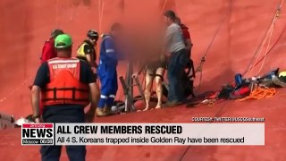 All four trapped crew members now rescued from capsized cargo ship off Georgia, U.S.