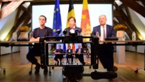 Accords de gouvernement PS-MR-Ecolo en Wallonie et Fédération