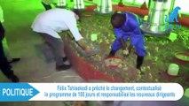 """Félix Tshisekedi prêche le changement """"Je veux un Congo débarrassé de la haine et du tribalisme"""""""