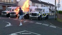 Petrol bombs thrown at police vans in Derry