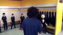 Real Madrid'li yıldız futbolcu Marcelo çocuğu ve arkadaşlarıyla top oynarsa...