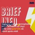 Vigilance orages, homophobie en Ligue 1, accident sur l'A57: voilà votre brief info de mardi après-midi