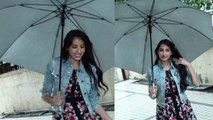 Nora Fatehi enjoys mumbai rain at Pepeta song promotion;Watch video | FilmiBeat