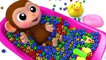 Lernen Sie Farben Baby Affe Fußball Bad Zeit Fingerlied Kinderlieder Für Kinder