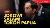 Tiba di Istana, Jokowi Salami Tokoh Papua