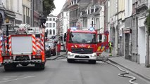 Tournai debut incendie quartier Saint Piat