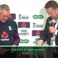 Drink positively! - Bayliss given departing gift