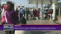 Gobierno mexicano presenta el presupuesto para el 2020