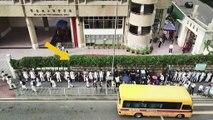 """Hong Kong : des élèves forment des """"chaînes humaines"""" géantes pour soutenir les manifestants"""