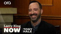 """""""She's just an absolute joy"""": Tony Hale on working with 'Veep' co-star Julia Louis-Dreyfus"""
