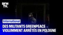 Les images de la violente interpellation de militants Greenpeace par les autorités polonaises