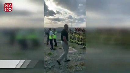 THY uçağının İstanbul'da toprak zemine girmesinin görüntüleri ortaya çıktı
