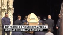 Motorsport world pay their respects at Anthoine Hubert's funeral