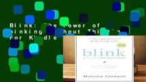 Blink  The Power of Thinking Without Thinking  For Kindle